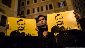 Still demanding answers: demonstrators mark the fourth anniversary of the murder of Giulio Regeni in Rome, January 2020 (photo: Amoruso/Pacific Press/picture-alliance)