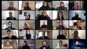 Participants in the video call with politician Norbert Rottgen (photo: Avicenna Studienwerk)