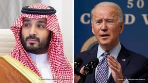 Mohammed bin Salman (left) and Joe Biden (photos: Balkis Press/Abaca/picture-alliance and Evan Vucci/AP/picture-alliance)