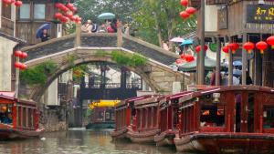 Suzhou's Grand Canal. Suzhou was dubbed the 'Venice of the East' by Marco Polo (photo: Peter K. Burian; Creative Commons Attribution-Share Alike 4.0 International)
