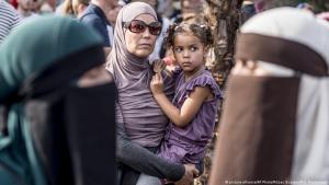 Protest again the burka ban in Denmark (photo: picture-alliance/AP Photo/Ritzau Scanpix/M. C. Rasmussen)