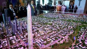 A model of Egypt's new administrative capital (photo: Reuters/Abdallah Dalsh)