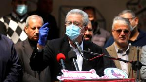 13 March 2021, Gaza city, Gaza Strip, Palestinian Territory: General Secretary of the Palestinian National Initiative party Mustafa Barghouti speaks during a protest on the Palestinian Wounded's Day (photo: Ashraf Amra/APA Images/ZUMA Wire)