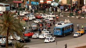 Traffic at a Cairo intersection (source: YouTube screenshot)