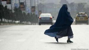An Afghan woman wearing a burka in Kabul (photo: Johannes Eisele/AFP/Getty Images)