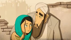"""""""The Breadwinner"""" (2017): the award-winning Irish studio Cartoon Saloon created an animated film, """"The Breadwinner"""", based on the best-selling novel by Deborah Ellis, about a determined young girl who takes on the appearance of a boy to support her family. Executive produced by Angelina Jolie, the film received an Oscar nomination for best animated feature"""