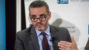 """Palestinian political consultant Khaled Elgindy speaks during the panel discussion """"What's Next for Palestine and the Palestinians?"""" hosted by the Arab Center in Washington, USA, 6 June 2017 (photo: Samuel Corum/Anadolu Agency/Getty Images)"""