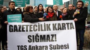 Press freedom demonstration in Ankara, 2020 (photo: DW/H. Koylu)