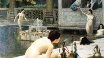"""""""The Pipelighter"""" by Jean-Leon Gerome (source: Wikipedia)"""