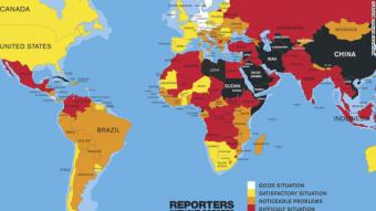 Press Freedom Index 2016 (source: Reporters Without Borders)