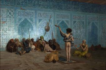 """The Snake Charmer"", by Jean-Leon Gerome (1824–1904), used on the cover of Edward Said's seminal work ""Orientalism"""
