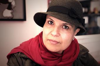 Libyan author Najwa Binshatwan (source: AboutHer)