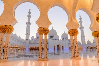 Sheikh Zayed Grand Mosque in Abu Dhabi (photo: Reuters)