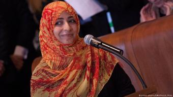 Tawakkol Karman during the world summit of Nobel Peace Prize Laureates in Rome, 14.12.2014 (photo: picture-alliance/ZUMA Press/L. Prizia)