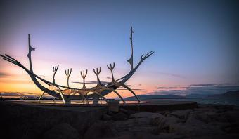 """Solfar"" sculpture by Jon Gunnar Arnason in Reykjavik (photo: Matt Lamers (CC0 1.0) via Unsplash)"