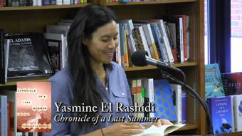 Egyptian novelist Yasmine El Rashidi (source: YouTube)