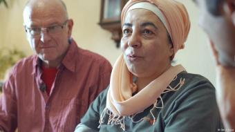 Klaus Werner Pfaff and Samah Al-Jundi, a German-Syrian couple in Eschwege (photo: DW/J. Thiel)