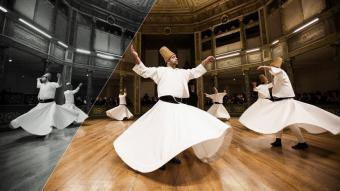 Dancing dervishes in Istanbul (photo: Gurcan Ozturk/AFP/Getty Images)