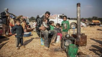 Refugees in Idlib (photo: picture-alliance/dpa)