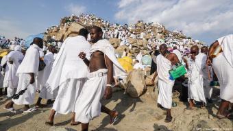 Pilgrims gather on Mount Arafat near Mecca, Saudi Arabia, on 20.08.2018 (photo: Getty Images/AFP/A. Al Rubaye)