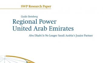 Cover of Guido Steinberg's research paper on the UAE (source: SWP)