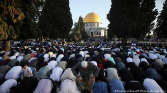 Overshadowed by conflict: Ramadan has come to an end in the midst of escalating violence between Palestinians and Israelis. Still, about 100,000 Muslims came together on the Temple Mount in Jerusalem on Thursday, according to media reports. The compound, which is home to the iconic Dome of the Rock and Al-Aqsa Mosque, is the third holiest site in Islam