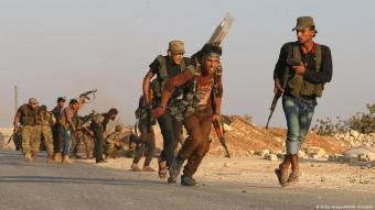 Turkish-backed Syrian rebels near Dabiq, Syria (photo: Getty Images/AFP)