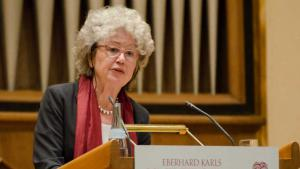 """""""We have to recognise the Judeo-Christian-Islamic nature of European culture,"""" says Angelika Neuwirth, professor of Arabic Studies at Berlin's Freie University (photo: Christoph Jackle/Tubingen University)"""
