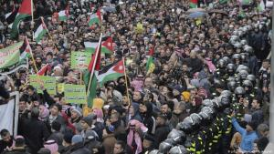 Protests against Trump's plan for the Middle East in Amman, Jordan (photo: AP/Raad Adayleh)