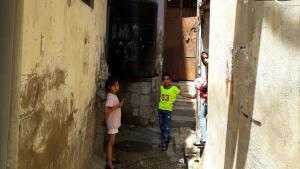 Palestinian children in Burj Barajneh, Lebanon (photo: Stephen McCloskey)