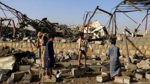 Yemen air strike on Sanaa (photo: Getty Images/AFP/M. Huwais)