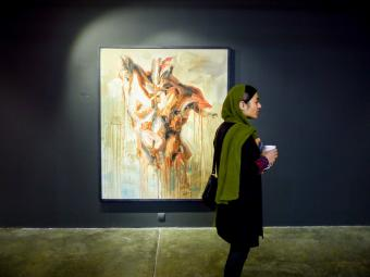 "Culture vultures: Tehran's galleries are very popular among Iranian young people and the cultural scene is constantly diversifying. According to a 25-year-old photographer, ""government restrictions play an important role in this phenomenon. Art is seen as a means of emancipation"""