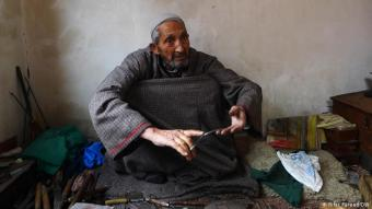 "The last ""German Khar"": Ghulam Mohiuddin is in his late 70s, but he still works every day in his small workshop in Srinagar's Rainawari district, producing and repairing small hospital tools made of iron. Through years of practice, he can make replicas of many small tools used in hospitals"